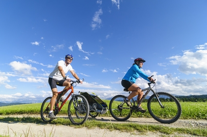 Radfahren kann den Rücken stärken