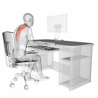 Rückenschmerzen lassen sich Großteils vermeiden - auch im Büroalltag