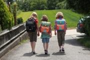 Schulranzen belastet Kinderrücken